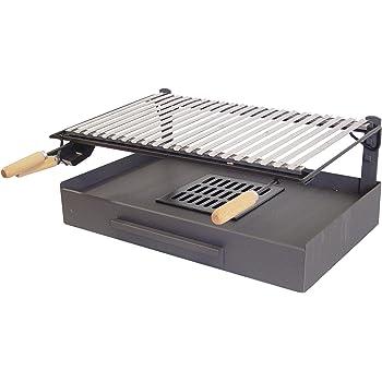 IMEX EL ZORRO 71514 Bac avec Plaque en INOX pour Barbecue 50