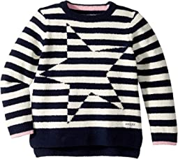 Stripe Artwork Sweater (Toddler/Little Kids/Big Kids)