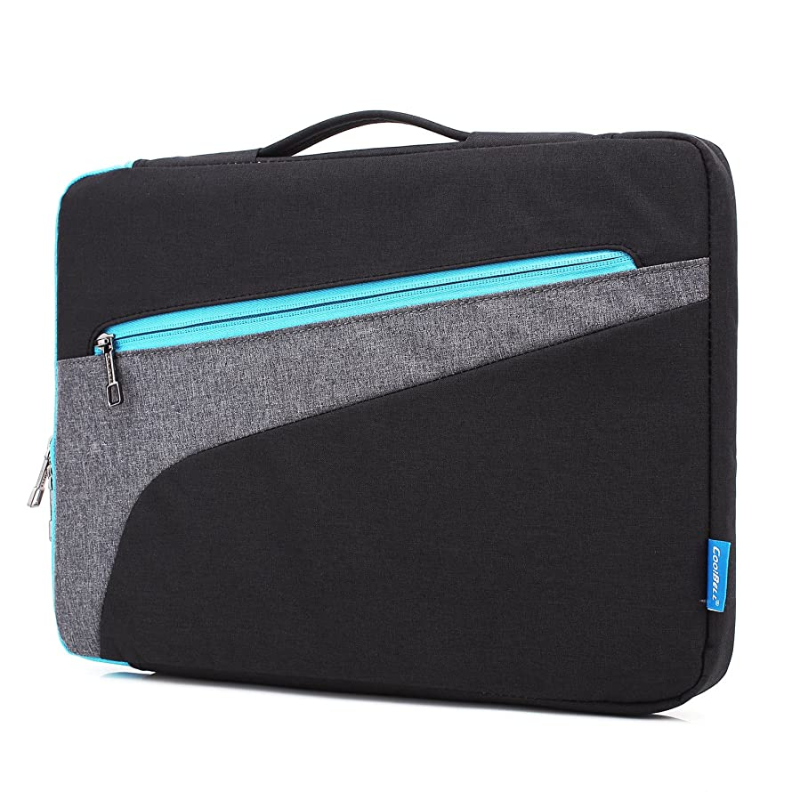 CoolBELL 15.6 Inch Laptop Sleeve Case with Handle Nylon Laptop Sleeve Bag with Accessories Front Pocket for Acer/MacBook Pro/MacBook Air/Asus/Dell/Lenovo/Men/Women (Black)