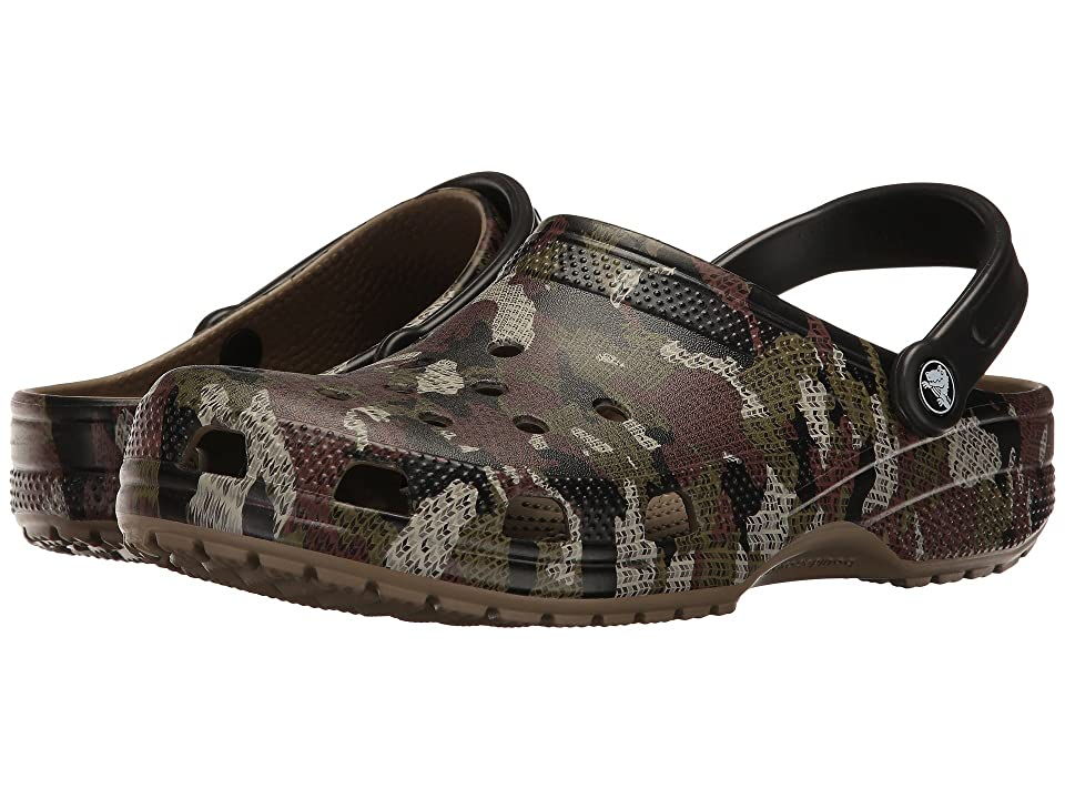 Crocs Classic Camo Clog (Khaki) Clog/Mule Shoes
