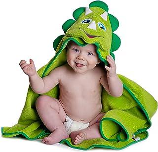 Toalla para bebé con capucha | Diseño de dinosaurio |