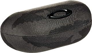 حافظة حماية لايف ستايل بتصميم بيضاوي للنظارة الشمسية من اوكلي، بلون رمادي واسود، مقاس موحد