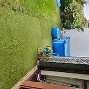 Steffensmeier Kunstrasen Kunststoffrasen Park Meterware Terrasse wasserdurchl/ässig f/ür Balkon UV-Garantie in Gr/ün Gr/ö/ße: 133x800 cm Garten