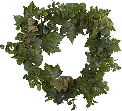 24in. Grape Leaf and Eucalyptus Artificial Wreath