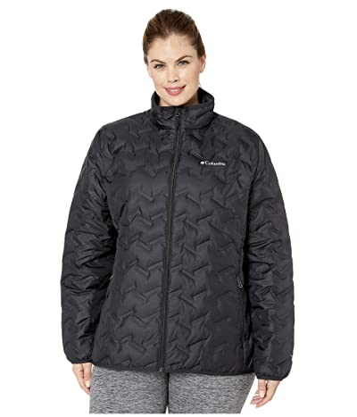Columbia Plus Size Delta Ridge Down Jacket (Black) Women
