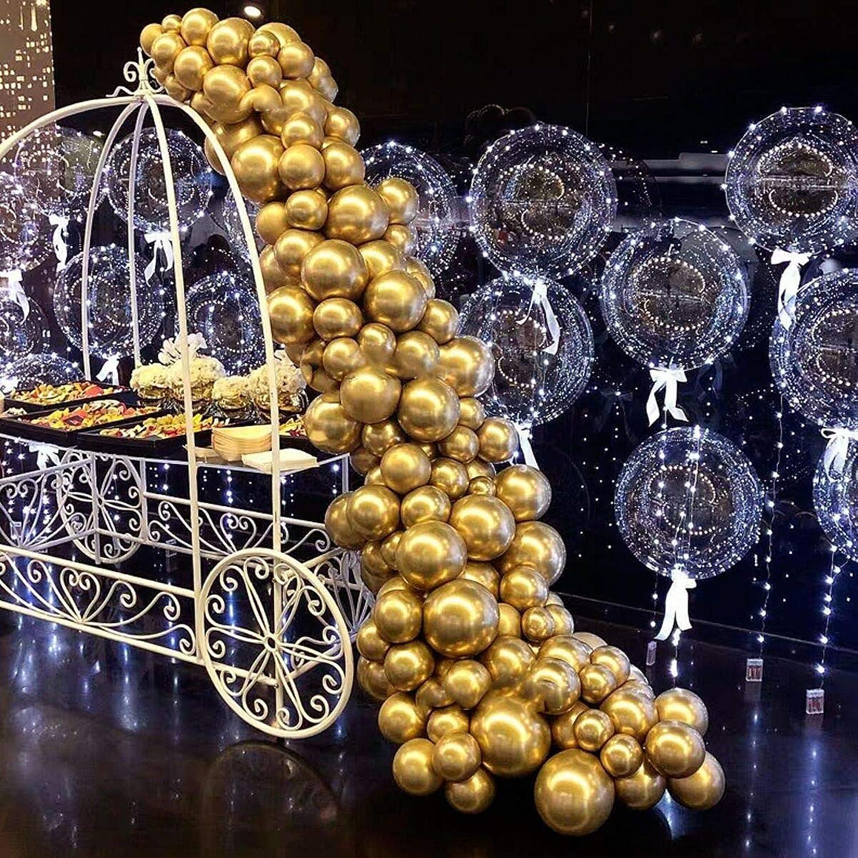 Balloon Garland Arch Kit-Gold Metallic Balloons 103 Pcs-Birthday Baby Shower Weeding Bachelorette Engagements Anniversary Party Backdrop DIY Decorations