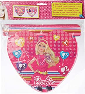 Procos Barbie Plastic Diecut Flag Banner, Girls