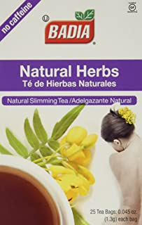 Badia Natural Herbs Tea Bags 25-Count (Pack of 2)