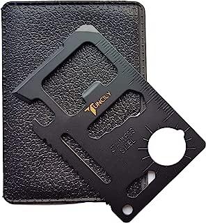 Tuncily Credit Card Survival Tool - 11 in One Multipurpose Beer Bottle Opener Portable Wallet Size Pocket Multitool (Black) - Best Gift for Men, DIY Handyman, Father/Dad, Husband, Boyfriend, Him