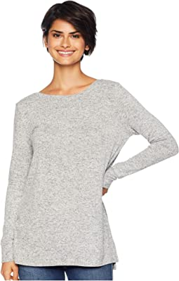Daily Rituals Brushed Knit Open Back Sweatshirt