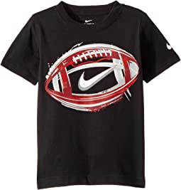 Nike Kids Brush Football Cotton Tee (Little Kids)