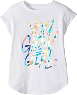 Nike Kids - You Glow Girl Modern Short Sleeve Tee (Little Kids)