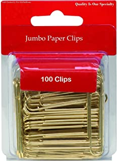 کلیپ های کاغذی 1InTheOffice Jumbo ، طلا ، صاف ، 100 / بسته