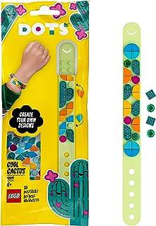 LEGO 41922 Dots Le Bracelet Cactus – Loisirs Créatifs, Tuiles, Perles, Bijoux pour Enfants