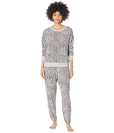 Splendid Westport Brushed Jersey Long Sleeve PJ Set (Distressed Winter Animal/Violet Ice) Women