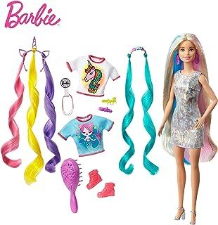 Barbie, Baśniowa Fryzura Lalka Ze Stylizacją Na Jednorożca Lub Syrenkę GHN04