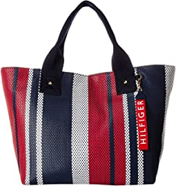 Classic Tommy Woven PVC Tote