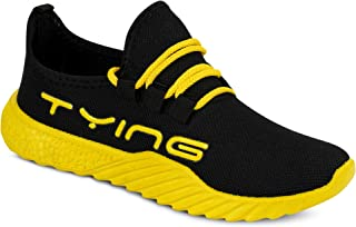 Camfoot Men's (9358) Black Casual Sports Running Shoes