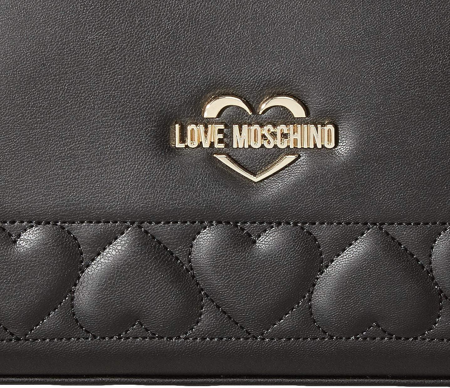 Love Moschino Sac à main femme ou à bandoulière article JC4085PP18LO BORSA NAPPA PU - cm.36 x 24 x 12 Noir (Nero)