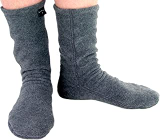 Polar Feet Adults' Non-slip Fleece Slipper Socks for Men and Women
