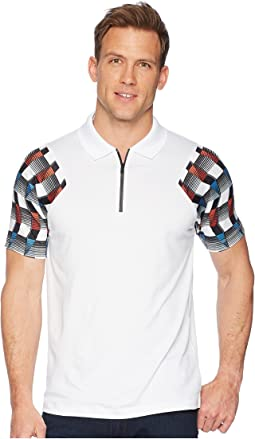PE360 Active Printed Zip Polo