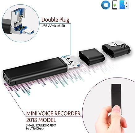 Grabadora de Voz Con Conector Directe para Smartphone| Batería de 26 Horas | Capacidad de