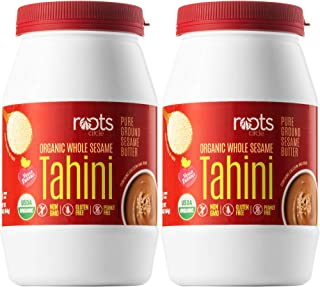 Sponsored Ad - Roots Circle Organic Whole Sesame Tahini | 100% Pure Raw Sesame Seed Paste Butter for Hummus, Salad Dressin...