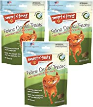 (Pack of 3) Smart n' Tasty Grain-Free Catnip All Natural Feline Dental Treats 3 Ounces each