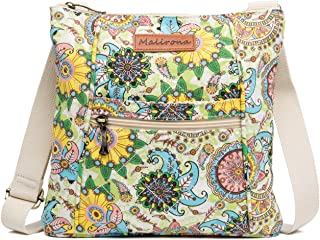 Women Crossbody Purse Hipster Cross Body Bag Canvas Shoulder Handbag Floral Design