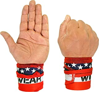 WOD Wear Wrist Wraps for Powerlifting, Strength Training, Bodybuilding, Cross Training, Olympic Weightlifting, Yoga Suppor...