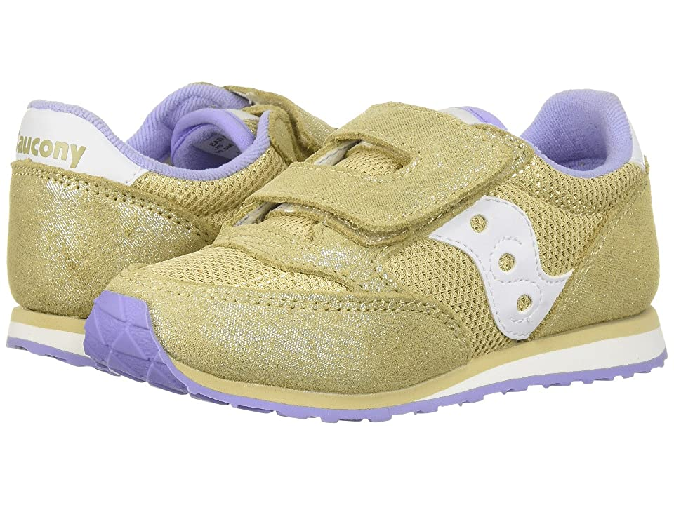 Saucony Kids Originals Jazz Hook Loop (Toddler/Little Kid) (Gold/Sparkle) Kids Shoes