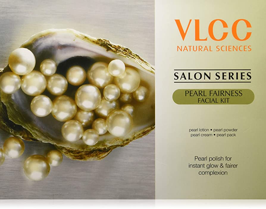 昼間高音グラマーVLCC Salon Series Pearl Fairness Facial Kit, 240g