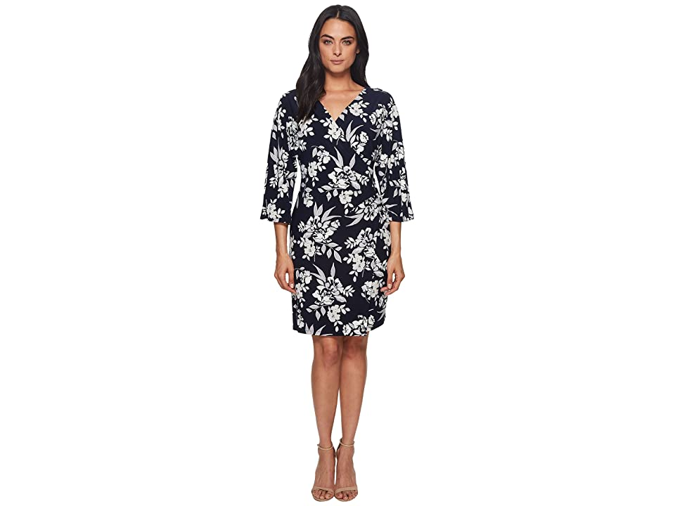 LAUREN Ralph Lauren Gali Kimono Floral Dress (Lighthouse Navy/Colonial Cream/Multi) Women