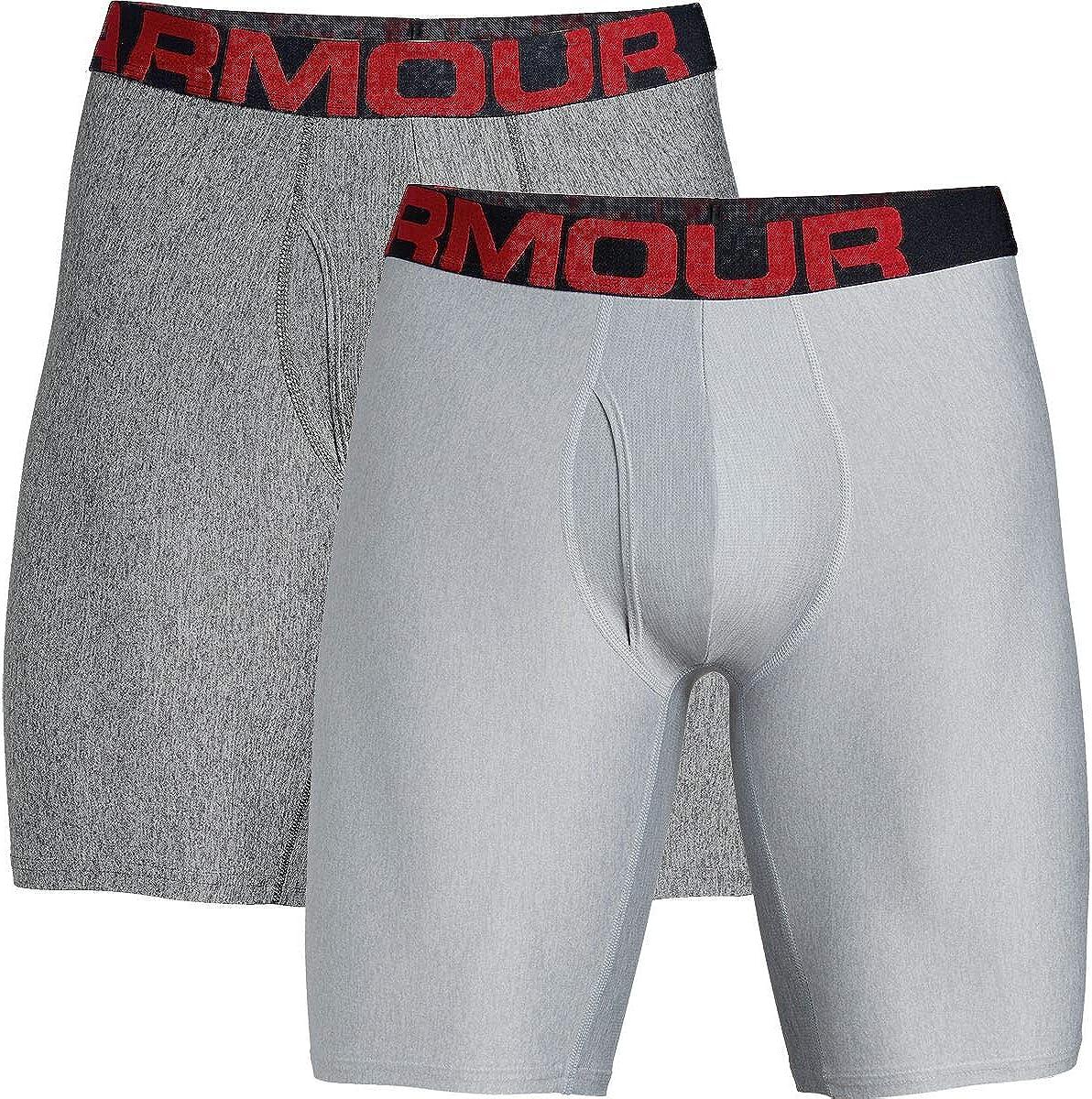 Under Armour Tech 9in Underwear - 2-Pack - Men's Mod Gray Light Heather, M