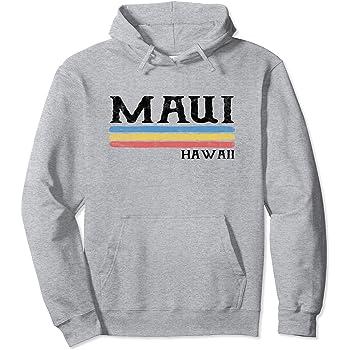 Mens Pullover Hoodie Sweatshirt with Pockets Vintage Hawaiian