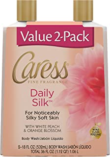 Caress Body Wash Daily Silk 18 oz, Twin Pack
