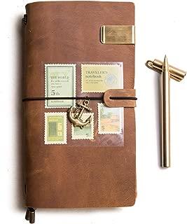 レザーノート+ 铜ペン、トラベラーズジャーナル、レザーノート、アンティークソフトレザー