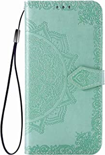 YukeTop Case for vivo V20 2021, PU Leather Flip Folio Wallet Cover, With Card Slots, Case Cover for vivo V20 2021.(Green)