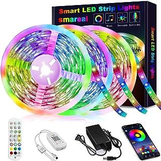 50ft Led Strip Lights, smareal Led Lights Strip Music Sync Color Changing Led Strip Lights App Control and Remote Led Ligh...