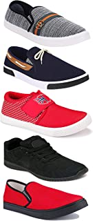 WORLD WEAR FOOTWEAR Sports Running Shoes/Casual/Sneakers/Loafers Shoes for Men Multicolor (Combo-(5)-1219-1221-1140-417-1032)
