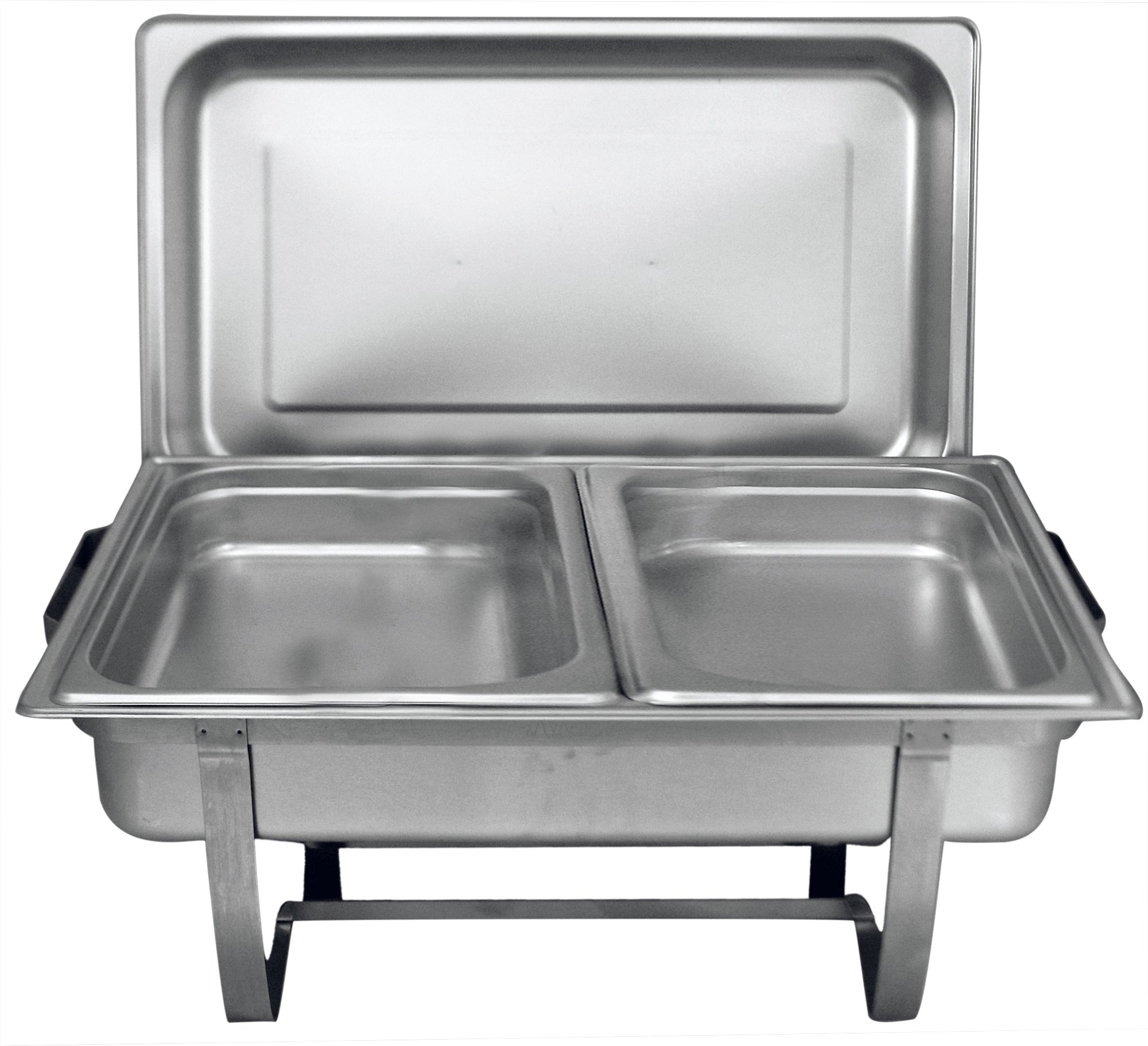 "2-1//2/"" Deep Winco SPFD2 S//S Divided Full-Size Steam Table Pan"