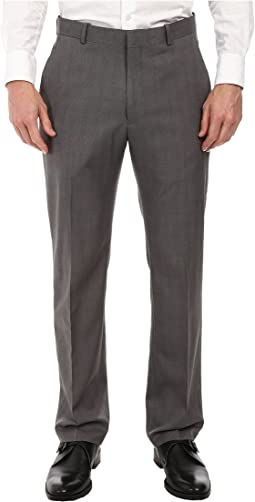 Perry Ellis Portfolio - Travel Luxe Modern Fit Windowpane Plaid Pants