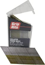 Grip Rite Prime Guard MAXB64881 304-Stainless Steel Finish 15-Gauge Angle Nails in Belt Clip Box (Pack of 1000), 2-1/2