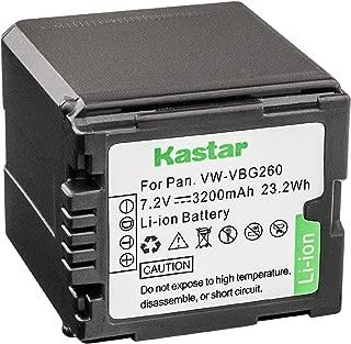 Kastar Battery for Panasonic VW-VBG070, VW-VBG130, VWVBG260 Battery and Panasonic SDR-H40, SDR-H80 Series, HDC-HS700, TM700, HS300, TM300, HS250, SD20, HS20, HDC-SDT750 Camcorders etc.