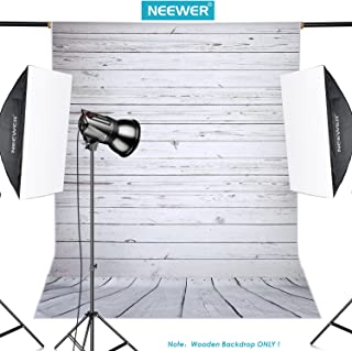 Neewer 5x7ft/152x213cm Light Grey 100% Polyester Wooden Backdrop Background for..