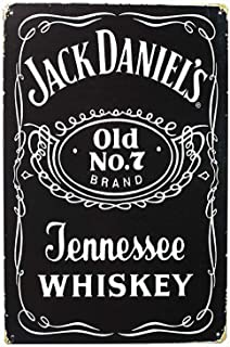 Jesiceny New Tin Sign Wall Decor -Jack Daniel's Old Time Aluminum Metal Sign for Wall Decor 8x12 INCH