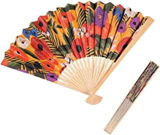 Cuban Folding Fans for Havana Night Party by Fun Express - Party Supplies - 12 Pieces