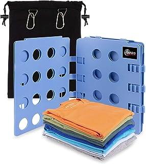 Carpeta ajustable para ropa de adultos y niños para camisetas, suéteres y pantalones, tabla plegable compacta con paneles ventilados, viene con una práctica bolsa de almacenamiento de lona
