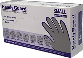 Adenna Handy Guard 3.8 mil Latex Powdered Gloves (White, Small)