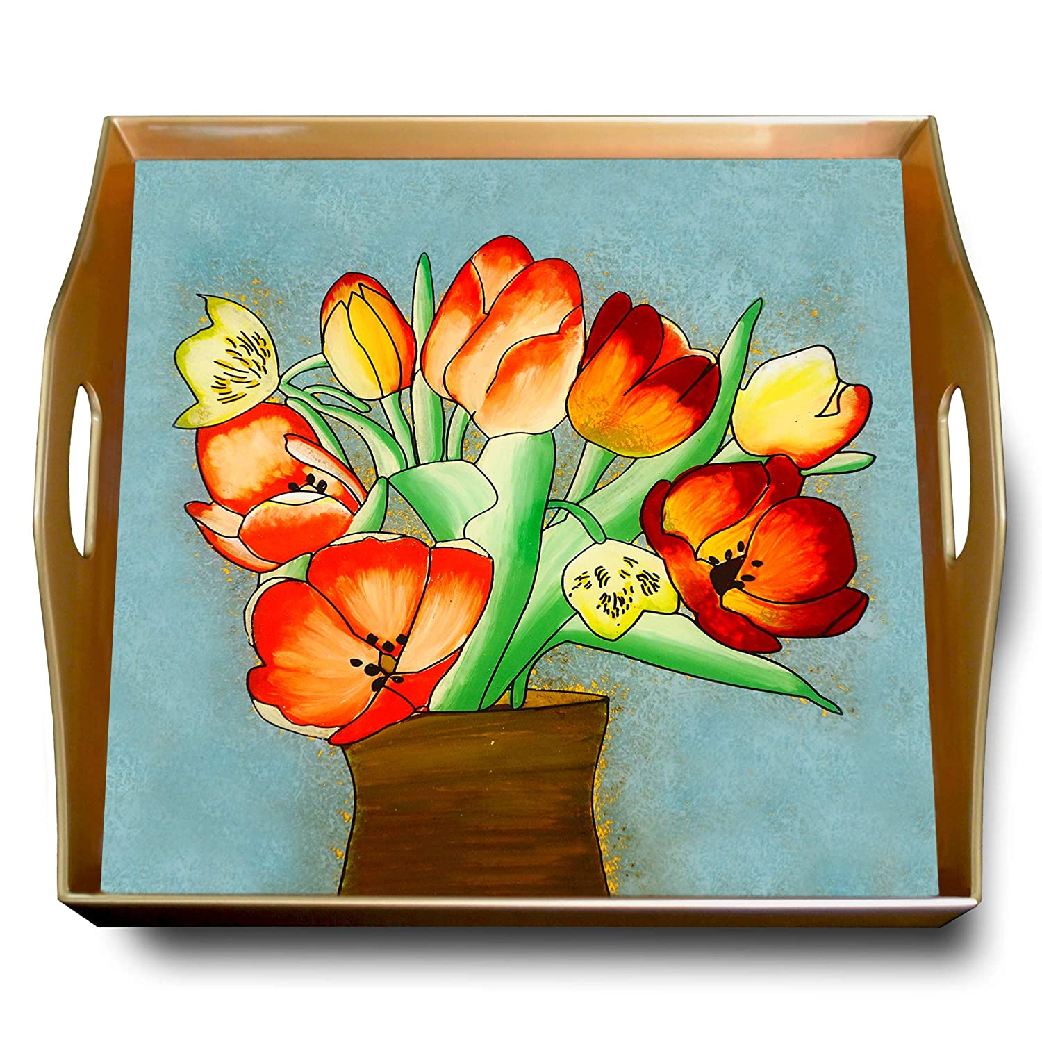 Charcuterie tray - Washington Mall Colorful Tulip Hand Bouquet Square Painted Las Vegas Mall
